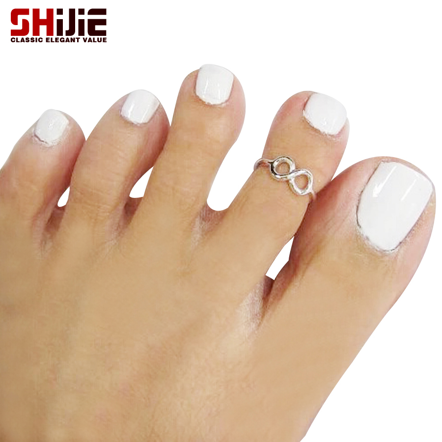 Gold toe rings for women - Shijie Love Lucky Number 8 Toe Rings For Women Sexy Beach Gold Silver Color 2 Pcs