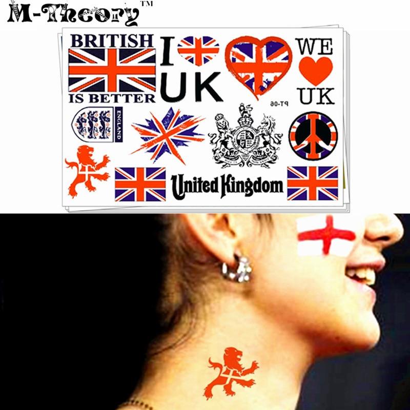 ✅Reino Unido país bandera tatuaje Adhesivos agua transferencia ... 6eea946f9a90