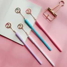 4pcs Cute cat and star pendant gel pen set 0.5mm Black color ink pens writing Girl gift Stationery Office school supplies A6539
