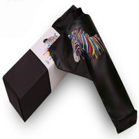 Creative Magic Change Color Zebra Umbrella When Encountering Water Sun Block Black Adhesive Collapsible Black Umbrella