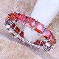 Atacado Valuable Red Criado Garnet 925 Sterling Silver Alta Qualidade grau Tamanho do Anel 6/7/9/10 R1632