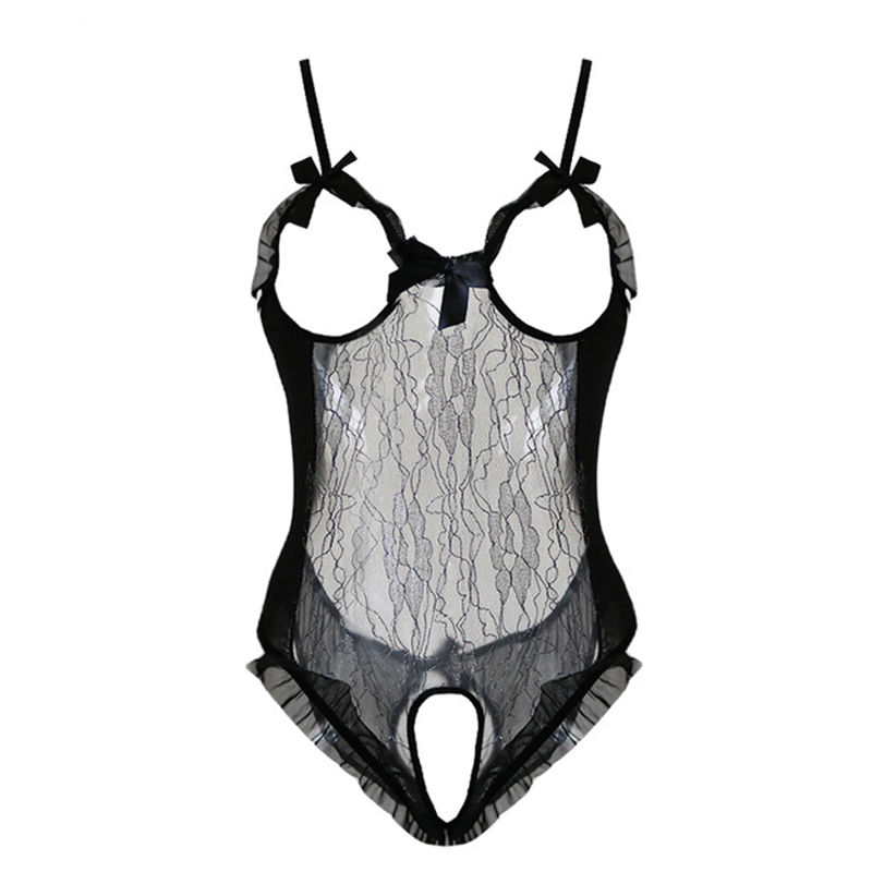 Teddy Lingerie Sexy Hot Erotic Costumes Women's Erotic Underwear Lace Open Crotch Babydoll Open Bra Sexy Costumes Sex Clothes