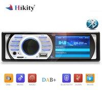 Hikity 1 din Car Radio DAB Audio FM Recorder Bluetooth MP3 Stereo Player 2.5 Autoradio Digital Receiver Build in Mic Hands free