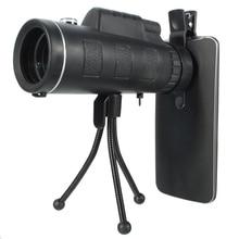Big sale 40X60 HD Optical Prism Monocular Telescope Lens Travel Portable Mobile Phone Camera Lens + Tripod Universal for iPhone Xiaomi