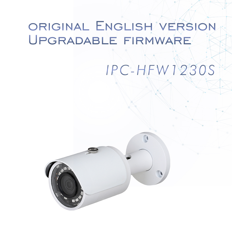 Dahua H.265 IP Camera IPC-HFW1230S outdoor English CCTV camera replace Hikvision DS-2CD2020F-I 1080P bullet security camera POE hikvision cctv camera 1080p full hd 4mp multi language security ip camera poe camera ds 2cd3345 i onvif replace ds 2cd2432wd i