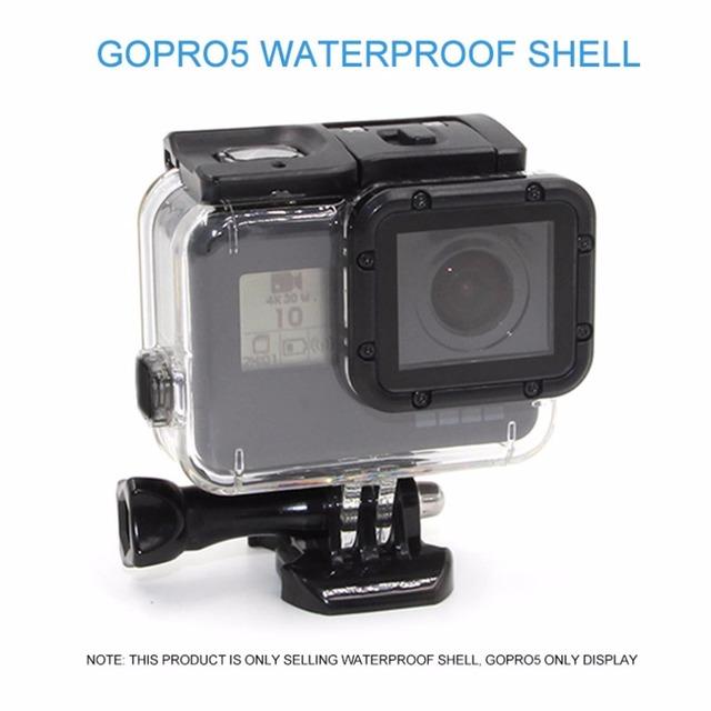 Tipo durável removível à prova d' água câmera caso da habitação tampa de montagem para gopro hero 5 esporte acessórios para câmara