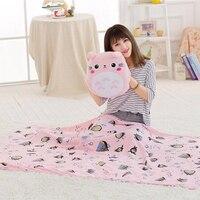 Kawai Totoro Plush soft Toy Hand Warmer With Blanket Animal Cartoon Pillow Lovely Cute hot good quality christmas gift kid
