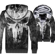 El Punisher Hip Hop para los hombres 3D imprimir Streetwear Hoodie 2018  Otoño Invierno grueso hombres sudadera Harajuku Hoddie c. 116a73f72fff