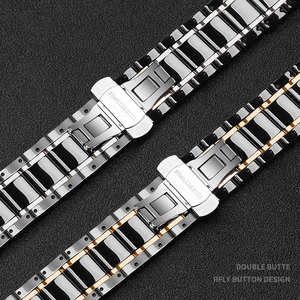 Image 4 - Keramik watcn band Für Apple Uhr 4 5 44mm 40mm Armband für iwatch 3 2 38mm 42mm Keramik Mit Edelstahl Armband armband