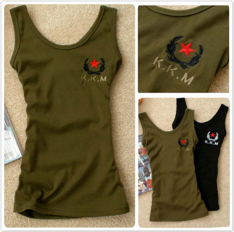 0520a83bc014b LIVRAISON GRATUITE femmes t-shirt coton mignon de mode camouflage femmes  gilet bas thermique femmes