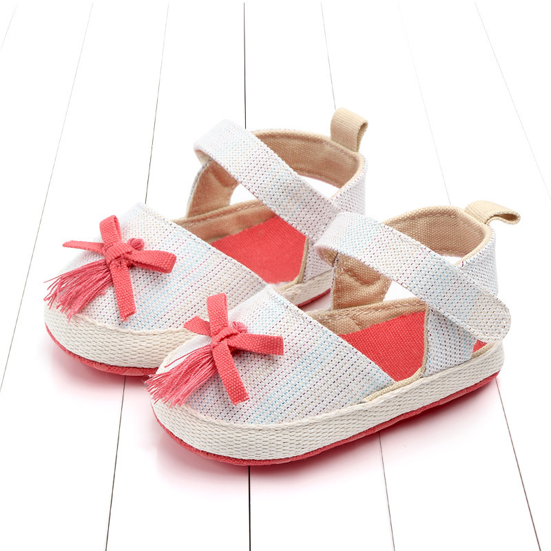 2019 Infant Baby Girls Shoes First Walkers Princess Flower Soft Sole Toddler Baby Summer Shoes Prewalker in First Walkers from Mother Kids