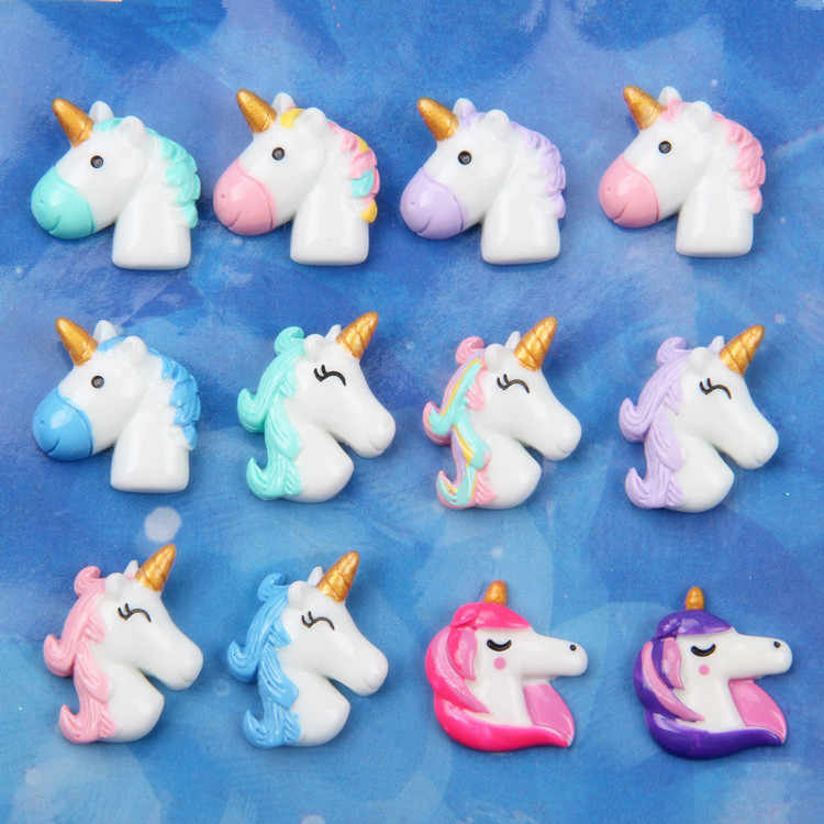 New Unicorn Charms for Slime DIY Candy Polymer Bead Filler Addition Slime Accessories Toys Lizun Modeling Clay Kit Kids Gift E
