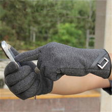 цена на Men's Fashion Lattice Touch Screen Warm Gloves  GL012
