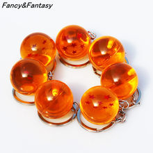 Fancy&Fantasy Anime Goku Dragon Ball Super Keychain 3D 1-7 Stars Cosplay Crystal Ball Key chain Collection Toy Gift key Ring(China)