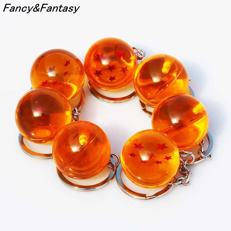 Fantasia & Fantasy Anime Goku Dragon Ball Super Chaveiro 3D 1-7 Estrelas Cosplay chaveiro Bola de Cristal Coleção brinquedo do Anel chave do Presente