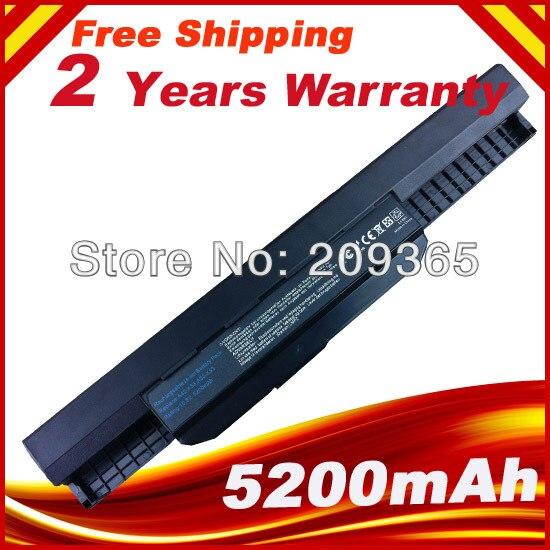 Batterie d'ordinateur portable pour Asus X54H K43SJ X54C X84 K53S K53 K53SV K53T K53E K53SD X44H Notebook pc