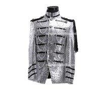 High End Мужские Серебряный дворец вообще костюм Блейзер Костюмы средневековой мужские период костюм