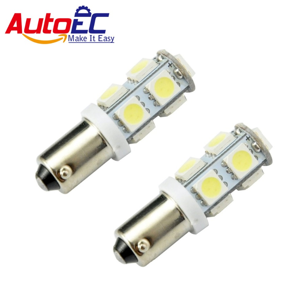 AutoEC 10 X Led ba9s 9smd 9leds 5050 LED 5050smd car led ba9s Tail Turn Signal Car Light Bulb Lamp Lights 12v dc #LG11