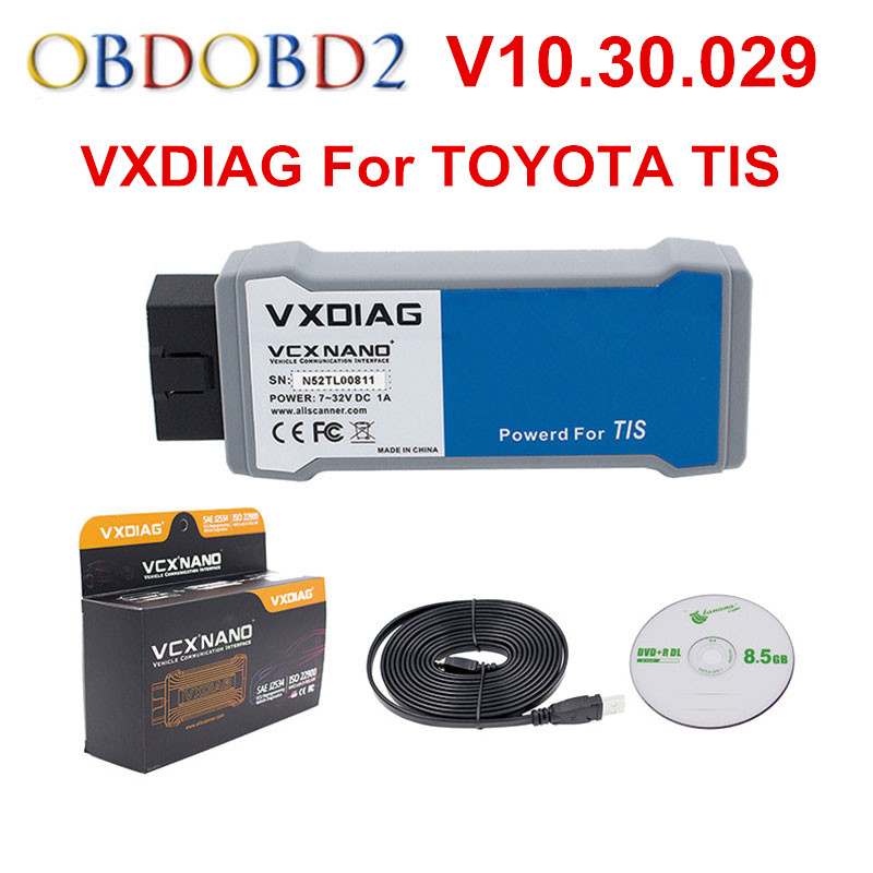 VXDIAG For TOYOTA TIS Techstream V10.30.029 c VCX NANO Support SAE J2534 Multi-Languages With USB/ WIFI Connection Free Ship оборудование для диагностики авто и мото by cds update multi di g j2534 multi diag v02 actia j2534 multi diag j2534 multi diag acess