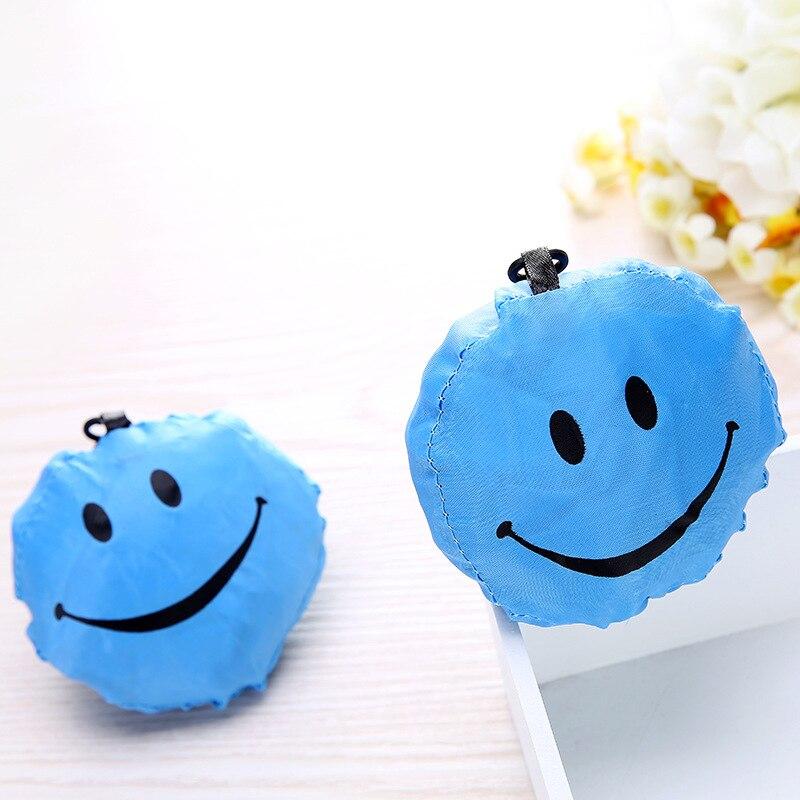 Foldable Shopping Bag Cute Emoji Organizer Beautiful Reusable Bag Hot Selling Home Eco bag Storage Handbag