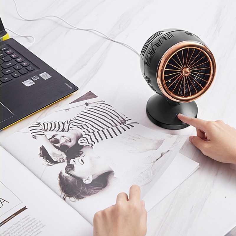 الإبداعية مزدوجة ريشة صغيرة مروحة يو إس بي لمكتب المنزل المحمولة الكمبيوتر الكمبيوتر مروحة كهربائية مروحة كمبيوتر محمول مع مزدوجة الجانب شفرات المروحة
