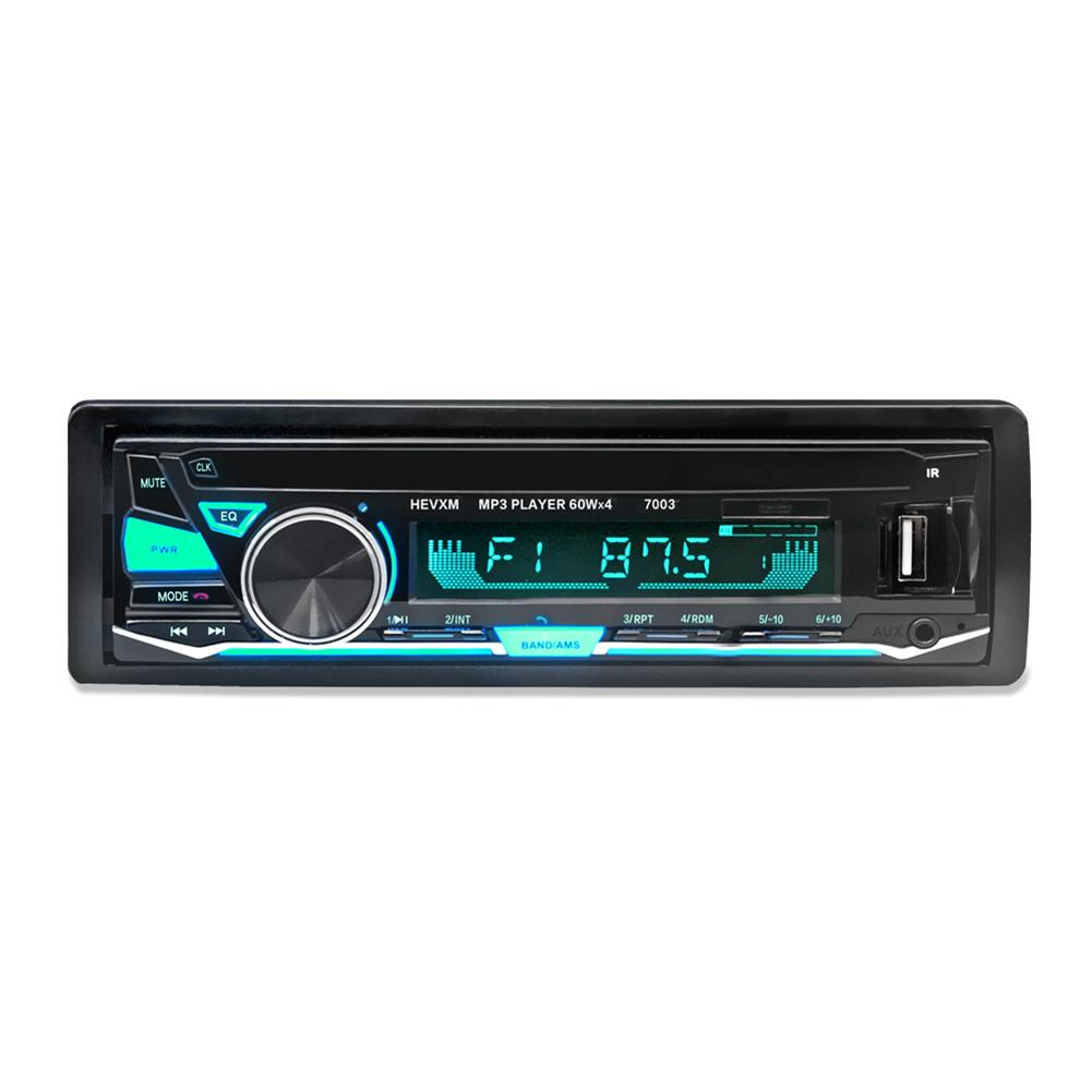 DC 12V Bluetooth Car Stereo Audio In Dash FM MP3 Radio Player ISO Standard Interface with AUX IN SD USB MP3 MMC WMA 4 x 60W