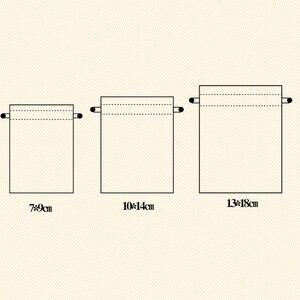 Image 5 - 10 個ミニジュート巾着黄麻布バッグ結婚式の好意パーティークリスマスギフトジュエリーヘッセ行列袋ポーチパッキング収納袋S10