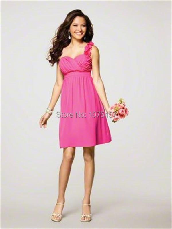 Popular Short Hot Pink Bridesmaid Dresses-Buy Cheap Short Hot Pink ...