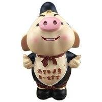 Creative Cartoon Pig Piggy Bank Ornaments Cute Pig Model Money Box Desktop Crafts Home Decoration Children's Toys Birthday Gifts