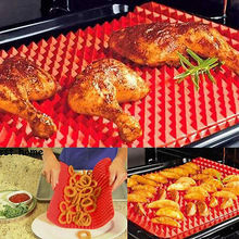 BBQ Pyramid Pan Bakeware Nonstick Silicone Baking Mats Pad Moulds Microwave Oven Tray Sheet Kitchen Tools