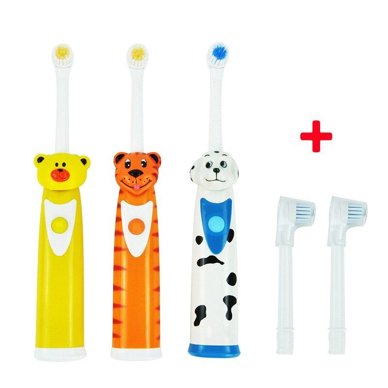2017 Cepillos de dientes eléctricos para niños dibujos animados diente Cepillos eléctrica masaje dientes ultrasónico Cepillos dientes Cuidado artículos de higiene bucal