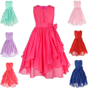 Image 2 - 4 14Y Kids Girls Princess Pageant Wedding Bridesmaid Party Chiffon Girls Flower Dress Princess Formal Occassion Floral Dress
