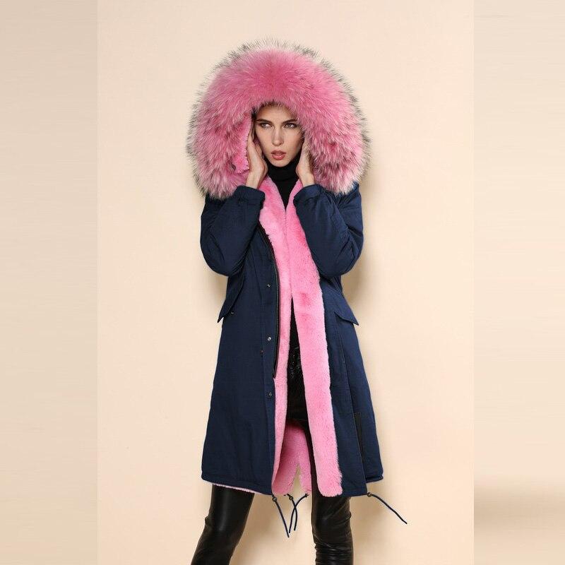 Nouvelle mode 2017 marine parka fausse fourrure manteau longue conception parka, grand col grand manteau, femmes parka manteau fabricant pas cher prix
