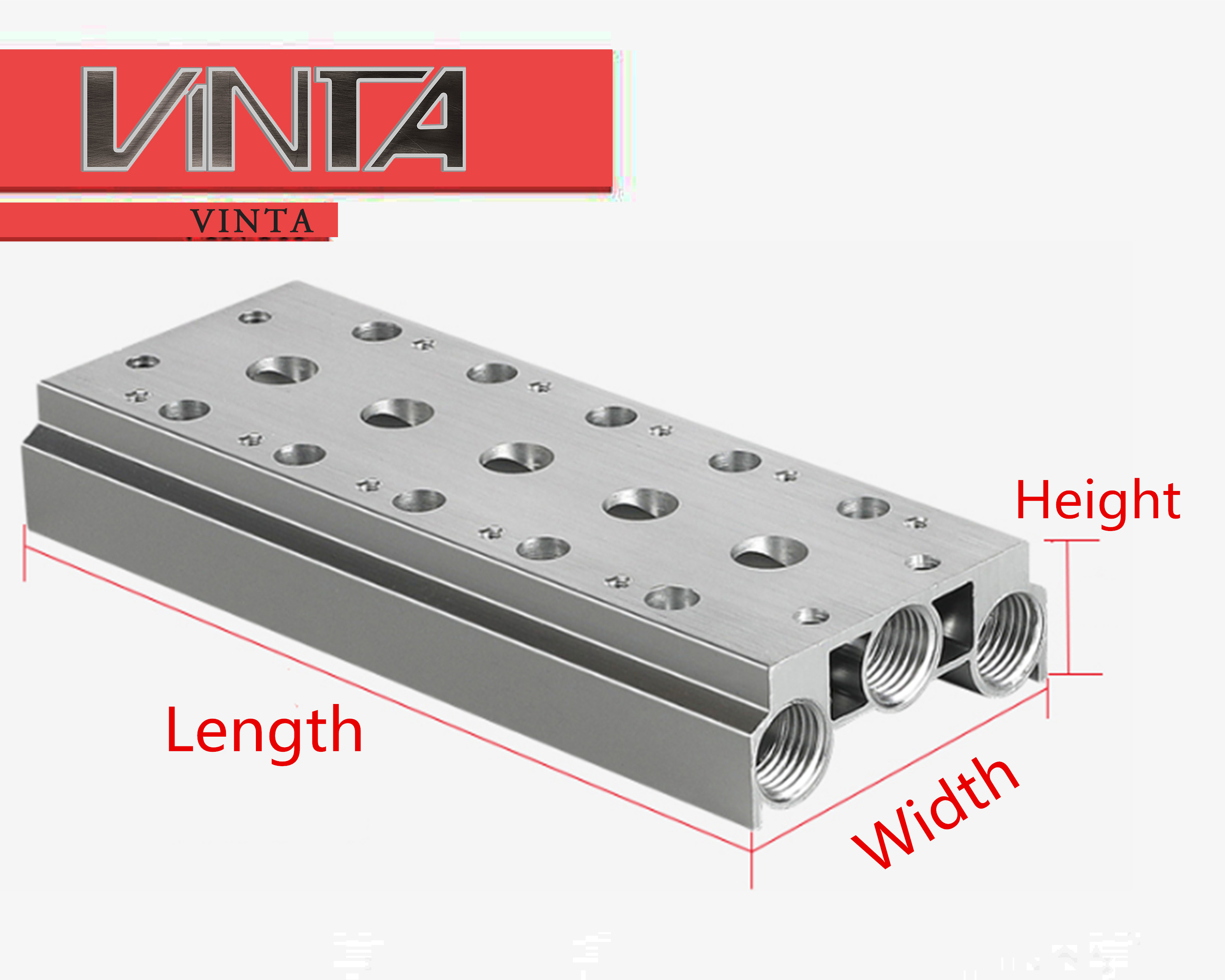 Free Shipping!CNC Bus Board 4V210-08 200M-4F Pneumatic Solenoid Valve Base Electron Magnetic Delivery Valve Manifold