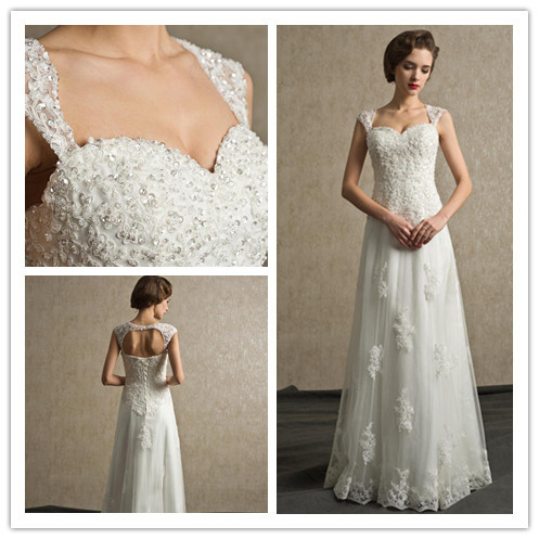 Sweetheart Lace Wedding Dress for Petites