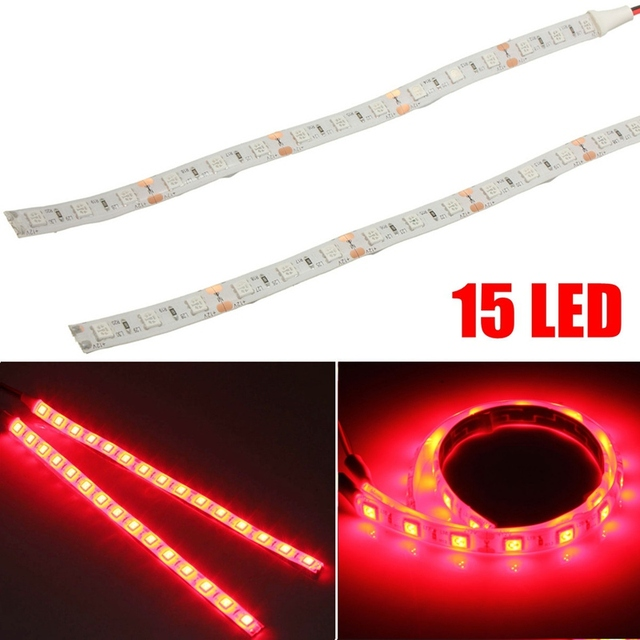 2pcs led strip 5050 15 red flexible led strip lights 12v dc car 2pcs led strip 5050 15 red flexible led strip lights 12v dc car caravan truck trailer aloadofball Gallery