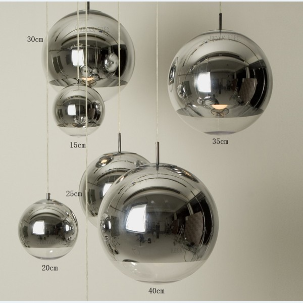 Plated ball pendant light silver glass ball pendant light plated ball pendant light silver glass ball pendant light restaurant lamp living room lamps bar lamp mozeypictures Images