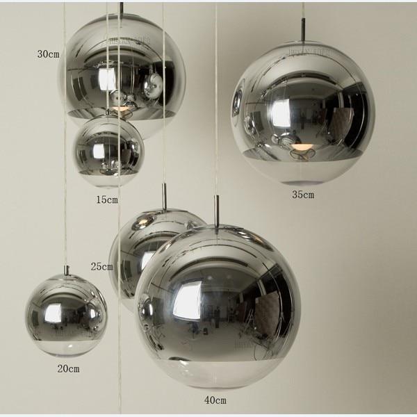 Vernickelt Kugelpendelleuchte Silber Glaskugel Pendelleuchte Restaurant Lampe Wohnzimmer Lampen Bar Treppenleuchte