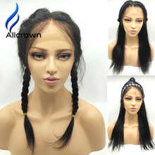 Alicrown Straight Brazilian Full Lace Wig Human Hair With Baby Hair Straight Front Lace Wigs Glueless Lace Front Human Hair Wigs