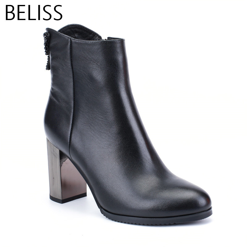 BELISS new design ankle boots for women high heels boots  ladies butterfly sexy genuine leather pointed toe spring autumn B40BELISS new design ankle boots for women high heels boots  ladies butterfly sexy genuine leather pointed toe spring autumn B40