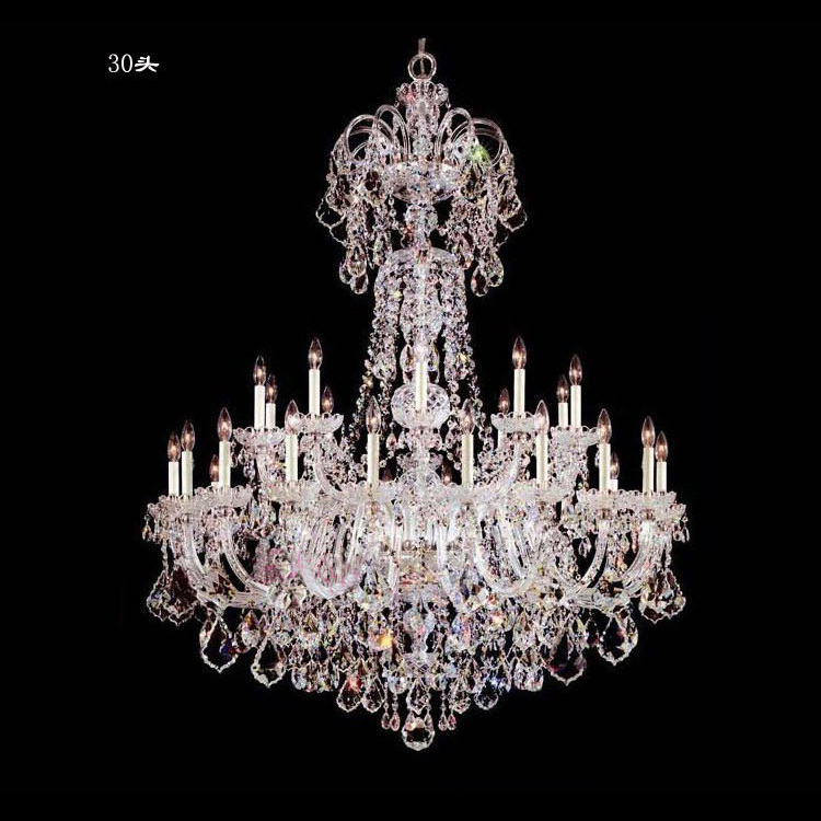 Hotel 30 pcs Deluxe clear crystal chandelier lighting lampada Great - Indoor Lighting - Photo 6