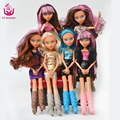 UCanaan Toy 30CM Wizard Dolls Fashion Removable Black WYDOWNA Spider Polyarticular Ghoulia Yelps Kid New Year Christmas Gift