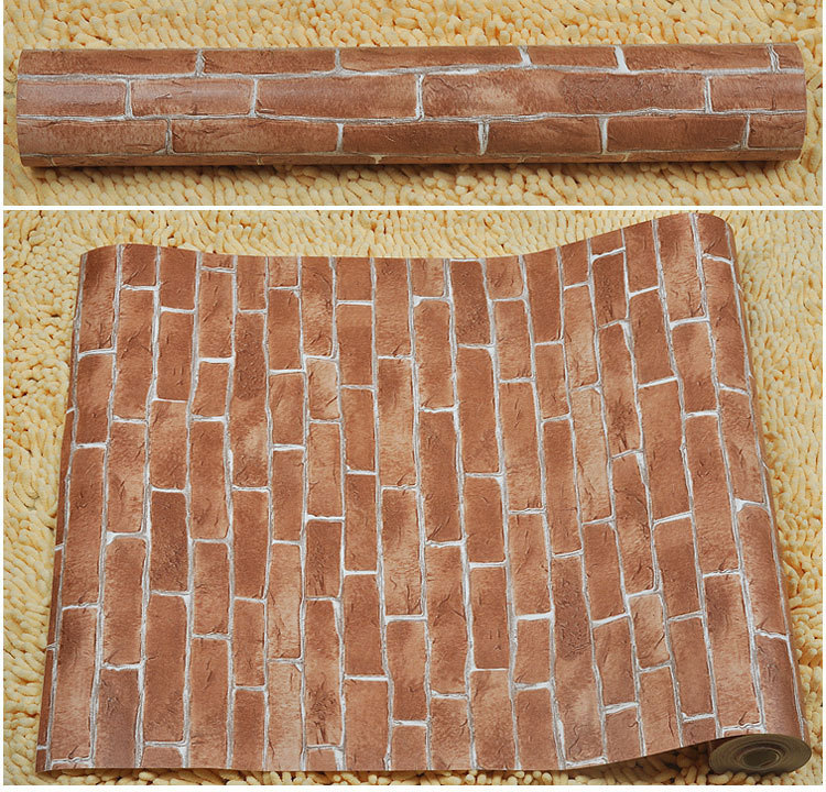 Chinese Vintage Brick Print 3D Wallpaper Store Decoration Project Wall  Paper Waterproof Wallpapers Roll Papier Peint QZ0035-in Wallpapers from  Home ... - Chinese Vintage Brick Print 3D Wallpaper Store Decoration Project