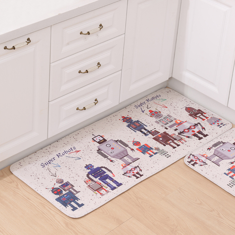 Kids Children Favor Super Robots Area Carpet Parlor Bathroom Bedroom Home Deco Rectangle Floormats Rugs Soft Fleece Door Mats