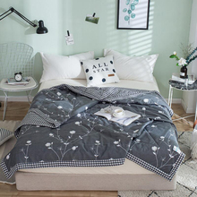 pure cotton Simple Summer thin DUVET COVER soft comfortable LUXURY summer QUILT DOUBLE SUPER baby Blanket Queen King Size