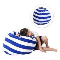 Creative Modern Storage Stuffed Animal Storage Bean Bag Chair Portable Kids Toy Storage Bag Play Mat