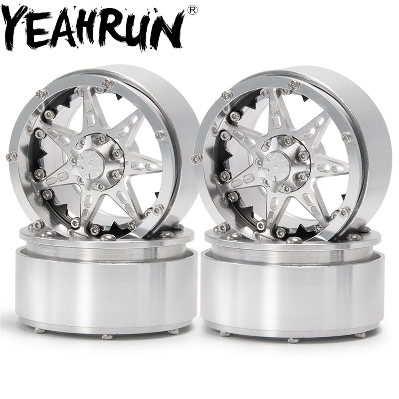 YEAHRUN 1 4 5pcs Metal Wheel 2 2 Beadlock Wheels Rims for 1 10 RC Crawler Axial SCX10 Traxxas TRX4 in Parts Accessories from Toys Hobbies