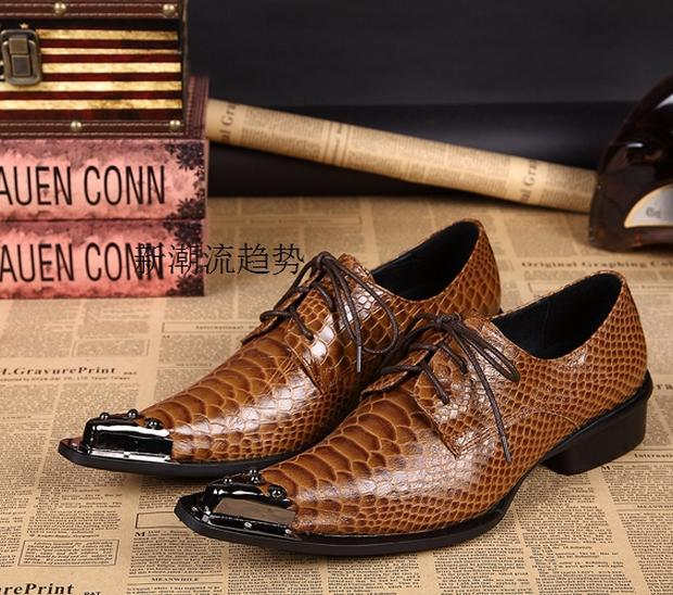 Zobairou New Designer Brown Mens High Quality Shoes Genuine Leather Men Business Wedding Dress Shoes Lace Up Flat Shoes Big Size