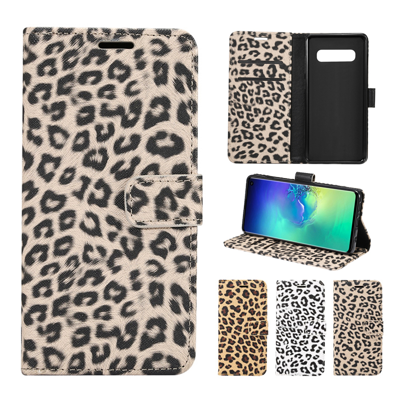 FLYKYLIN Wallet Flip <font><b>Case</b></font> For Samsung Galaxy Note 10 Plus Leopard Leather Cover For Samsung S10e S10 + S9 <font><b>S8</b></font> S5 S6 S7 edge Coque image