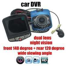 Авто видео регистратор Видеорегистраторы для автомобилей Камера Full HD регистраторы Регистраторы Ночное видение два объектива с обратным Камера dashcam
